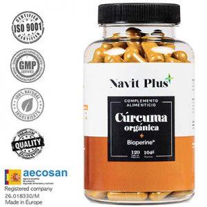 Cúrcuma Orgánica con BioPerine®. Suplemento Nº 1 en Cúrcuma.