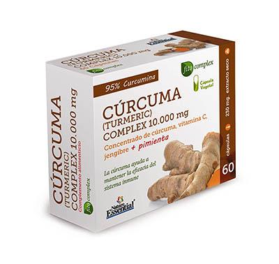 CURCUMA 10.000 MG. (95%) JENGIBRE + PIMIENTA + C. 60 CAPSULAS VEGETALES