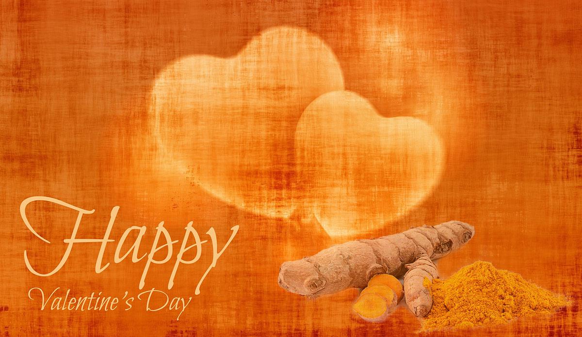 Happy Valentine's Day turmeric
