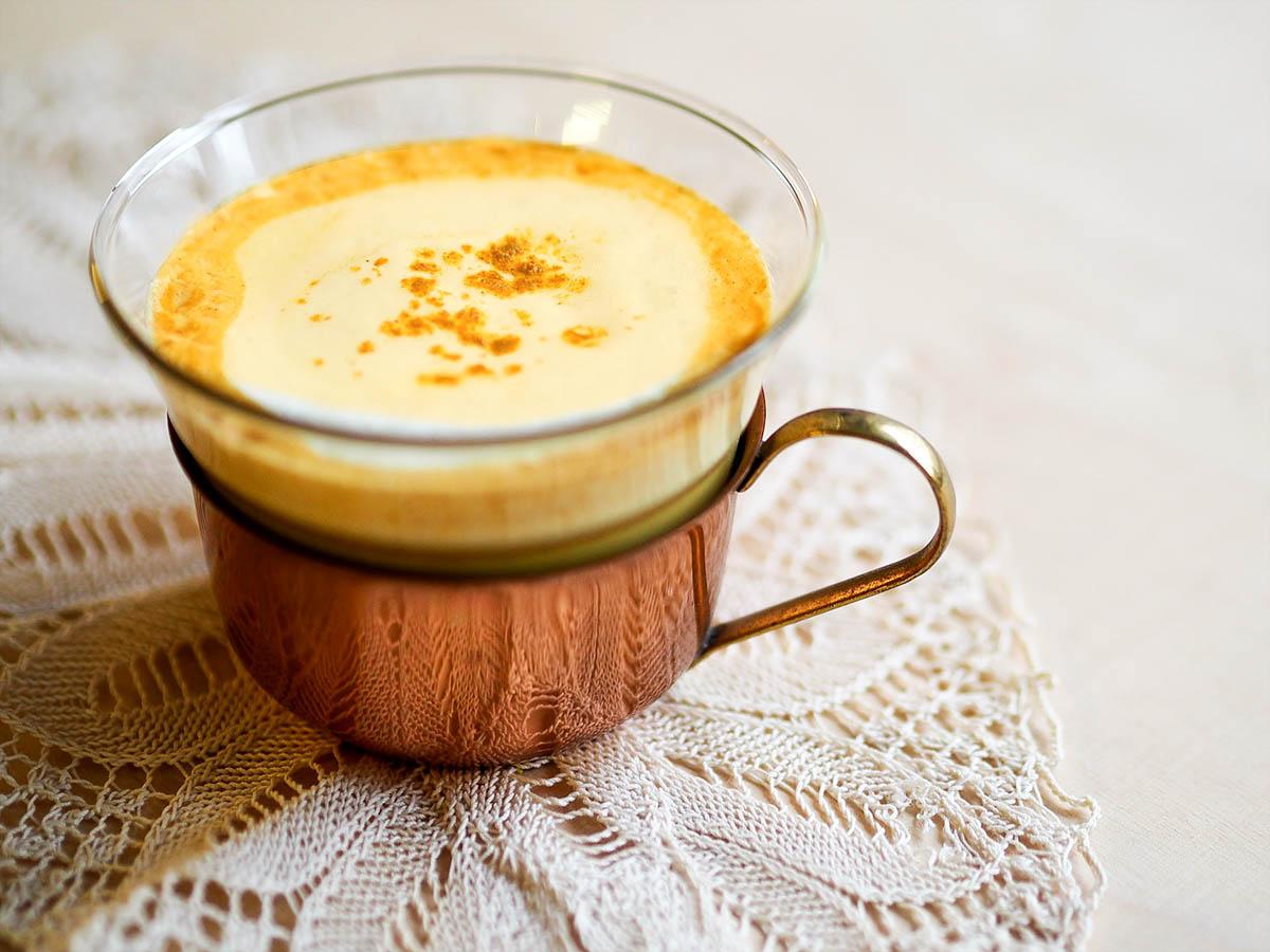 RECETA DE CURCUMA LATTE leche dorada