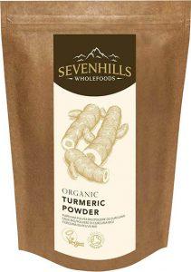 Sevenhills Wholefoods Cúrcuma Crudo En Polvo Orgánico 500g