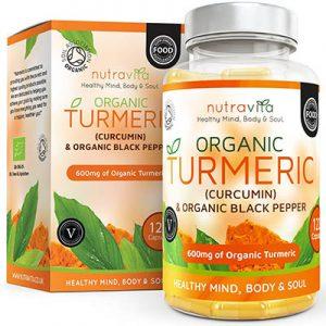 Turmeric - Cúrcuma orgánica 600 mg, con Curcumina y Bioperina