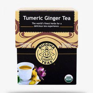 Turmeric jengibre té – 100% orgánico té de hierbas – Buda – 18 bolsitas