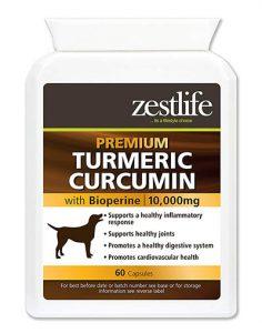 Zestlife Cúrcuma para perros 500 mg extracto equivalente a 10,000 mg