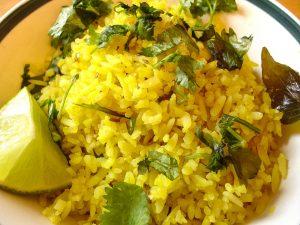 receta arroz con curcuma
