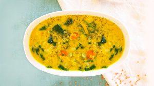 receta sopa de lentejas rojas